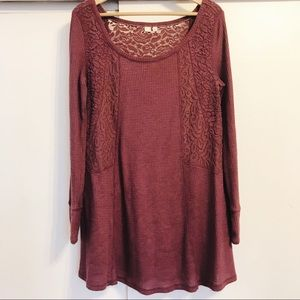 Anthropologie Thermal & Lace Tunic